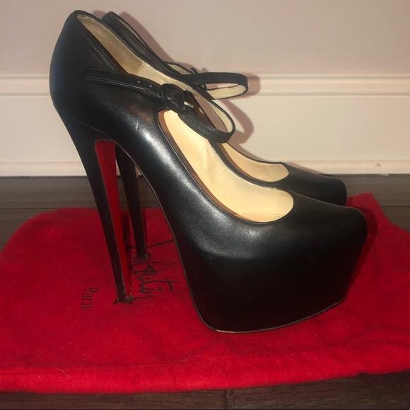 info for 38698 3f924 Christian Louboutin platform strap heels